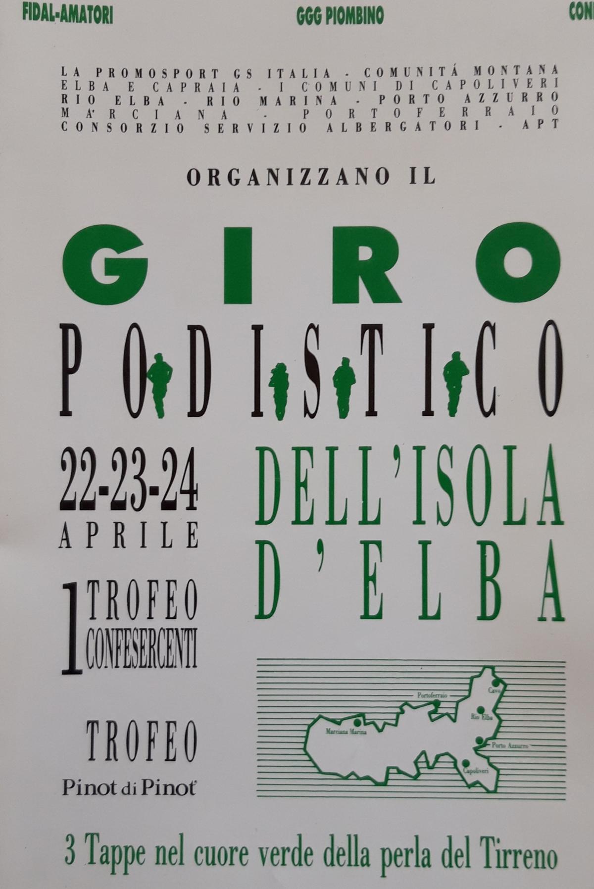 Dal giornalino del 1° Giro Podistico nel 1991