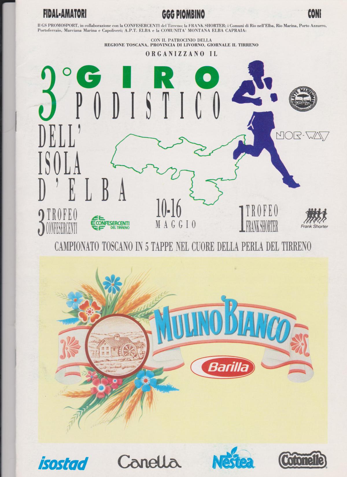 1993, IL GIRO PASSA  A CINQUE TAPPE.